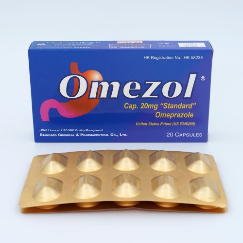 OMEZOL CAP 20MG 2x10's/BOX 外包裝成品